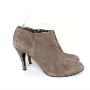 J. Crew Tan Suede Heeled Ankle Booties Size 8
